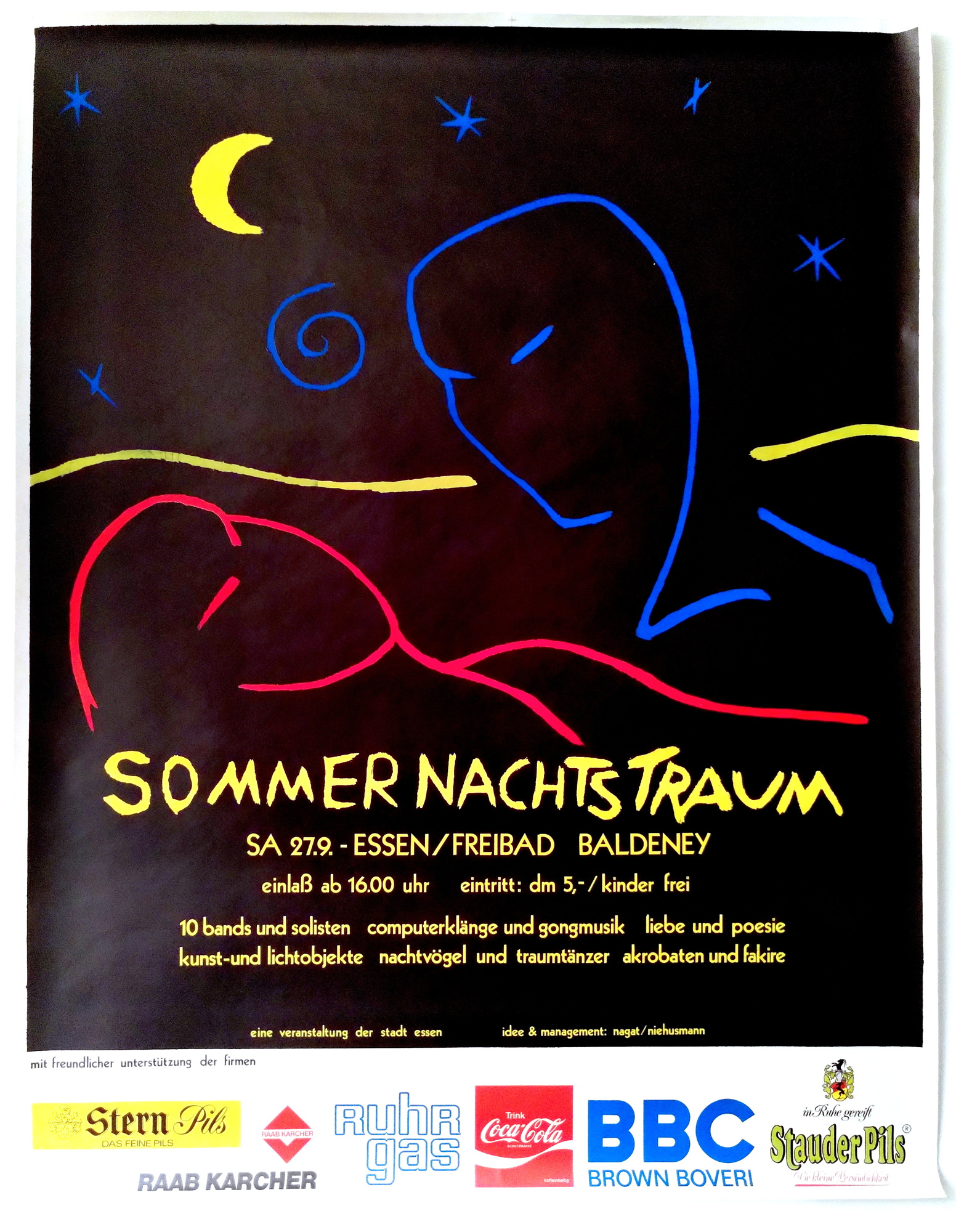 Sommernachtstraum am See, Plakat