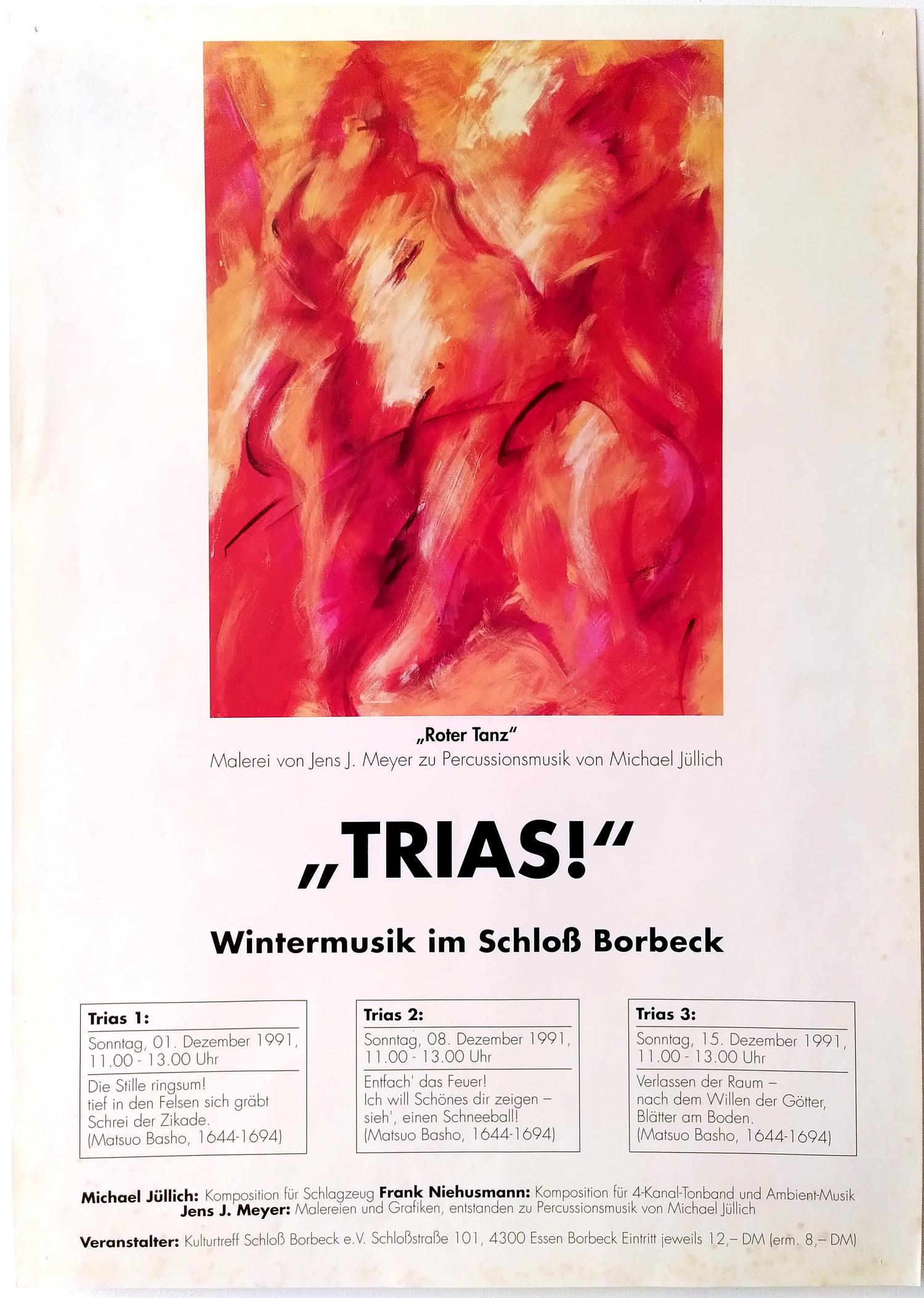 Konzertreihe Trias, Plakat