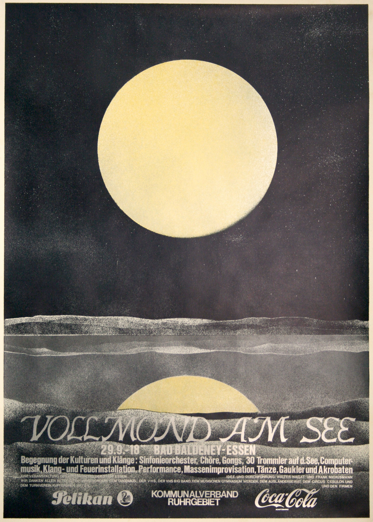Vollmond am See, Plakat